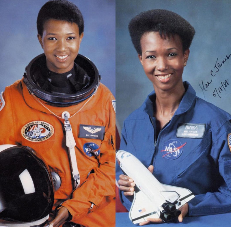mae jemison pictures in space - 800×786